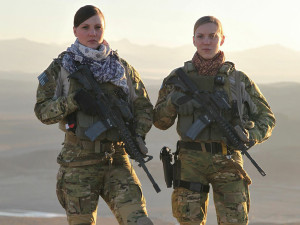 Kat Kaelin (left) in Afghanistan Source: People.com